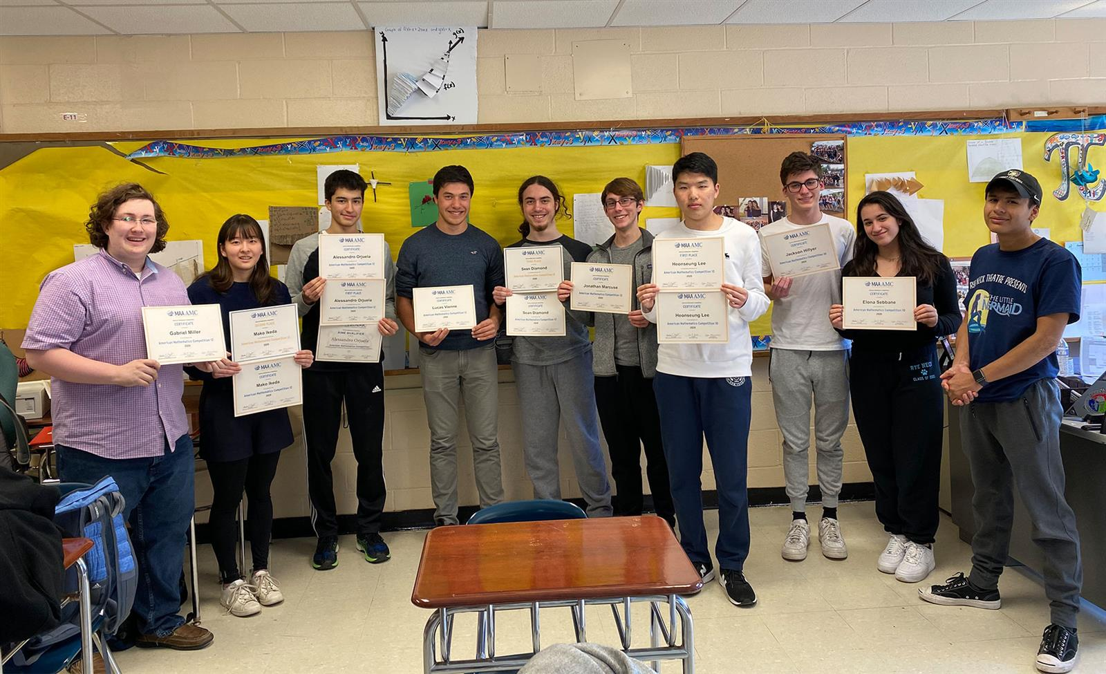 Students Earn Top Spots in American Math Competition photo