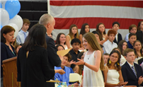 Eighth Graders Celebrate Milestone in Moving-Up Ceremony  thumbnail121315